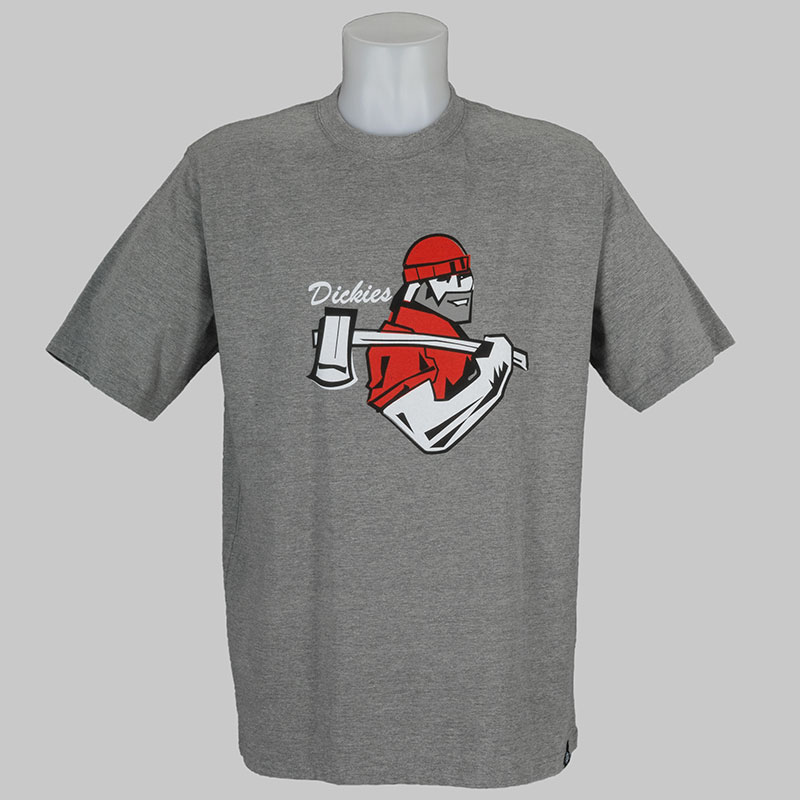 Buy dickies clothing t shirt bellevue grey melange at for Dickey shirts clothing co